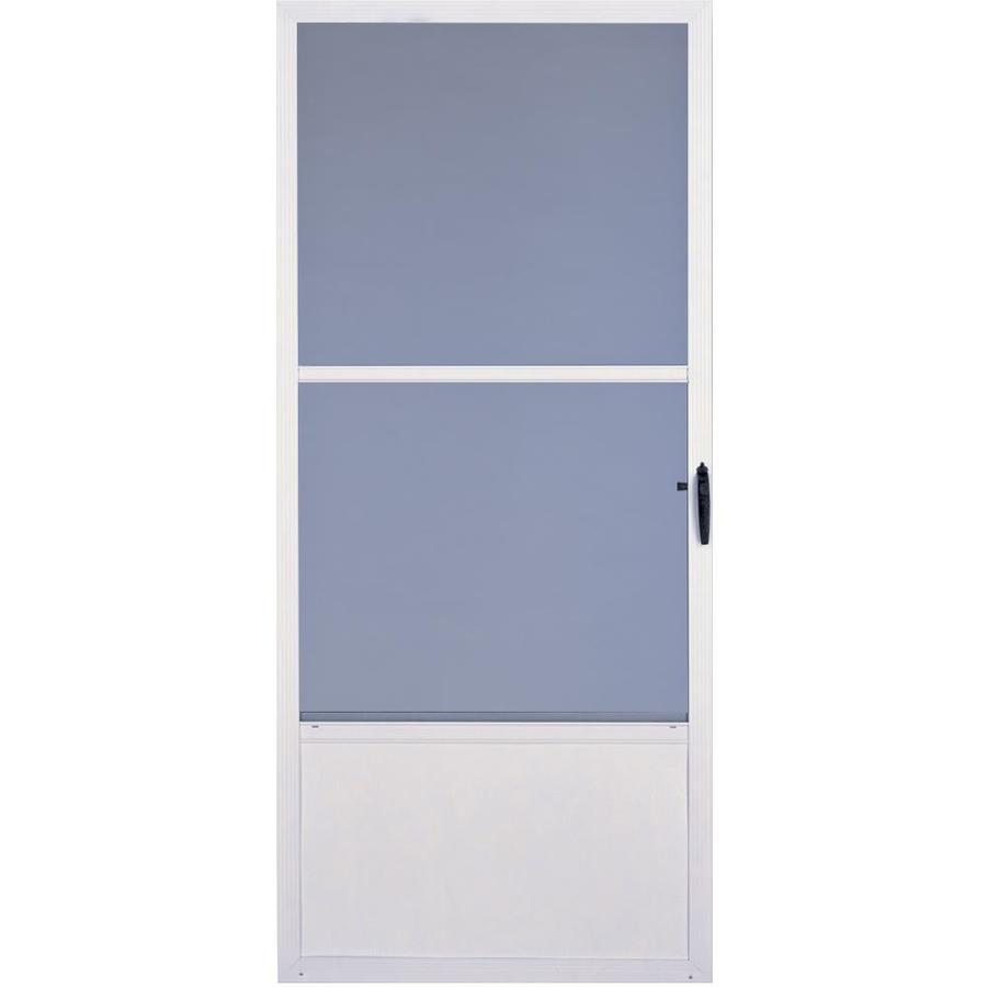 Shop comfort bilt 32 white fremont storm door at for Storm door manufacturers