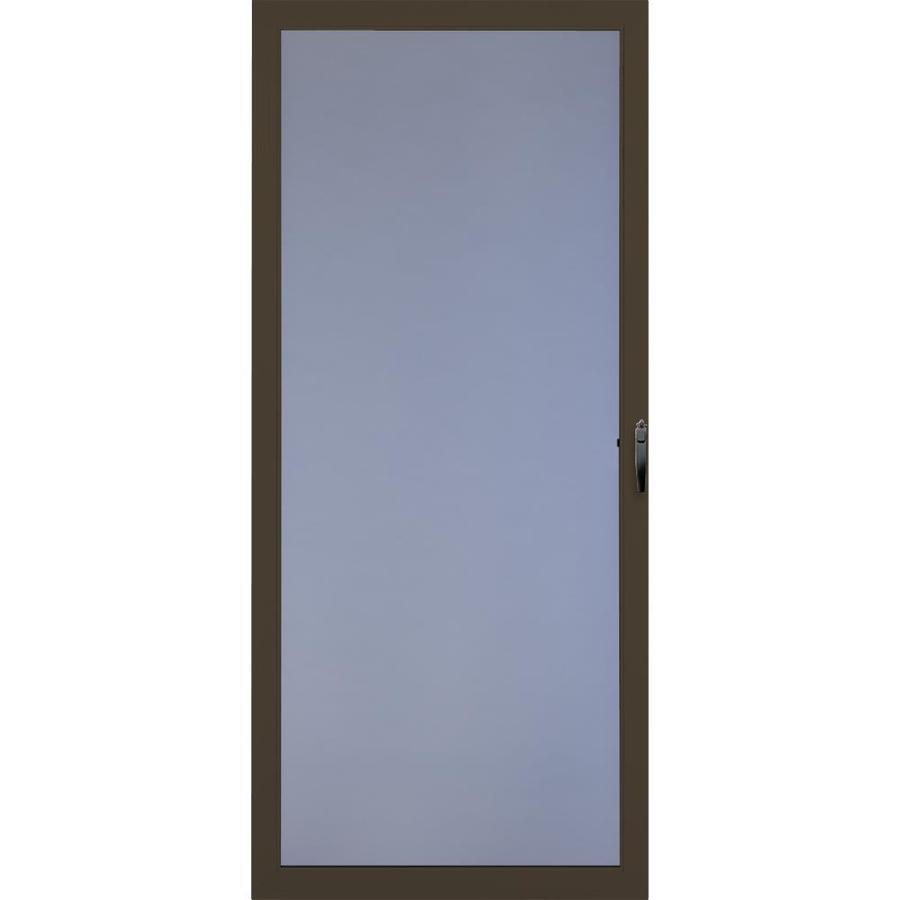 Shop comfort bilt springfield brown full view tempered for Full glass screen door