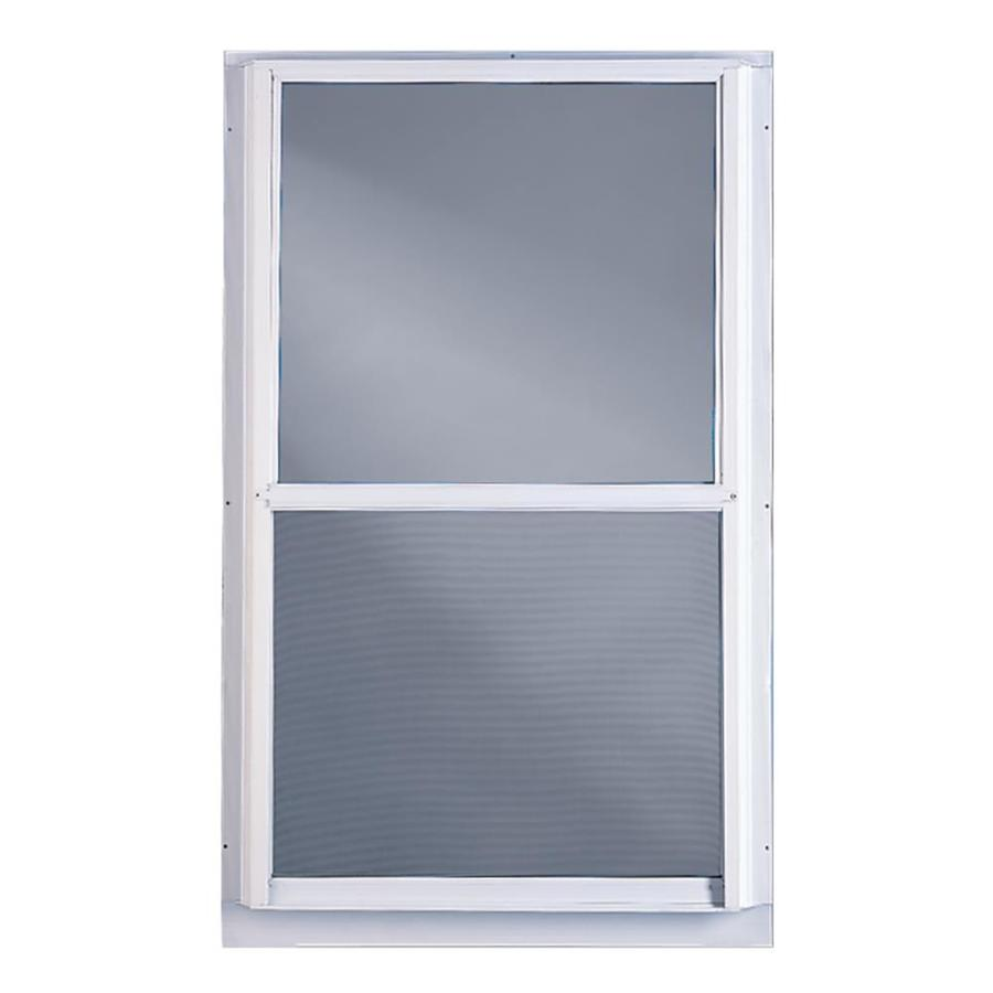 Shop comfort bilt 28 in x 55 in single glazed storm for Aluminum storm windows