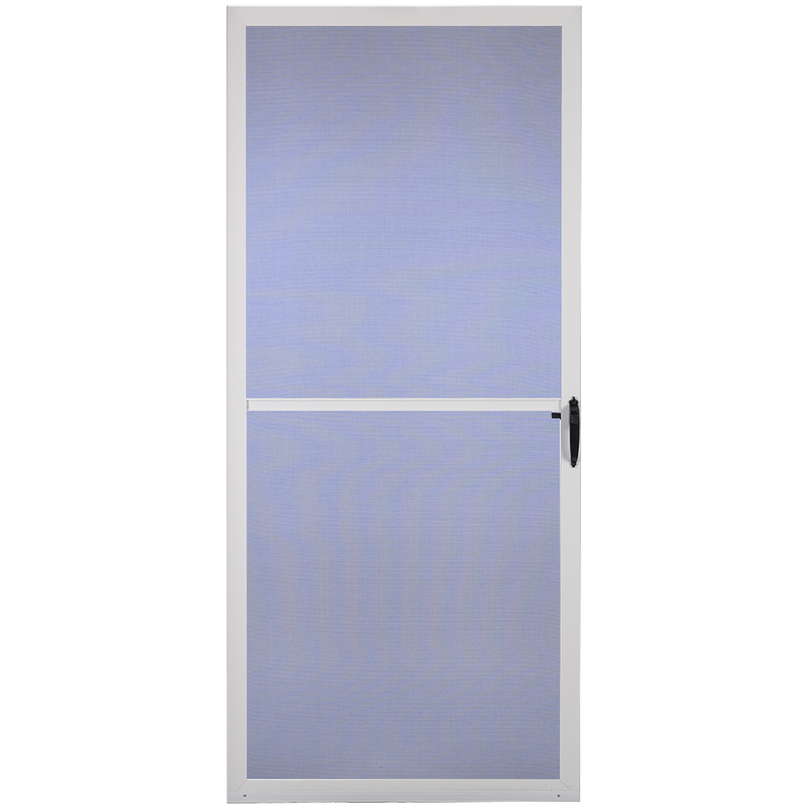 Shop comfort bilt key west white aluminum screen door for Aluminum screen doors