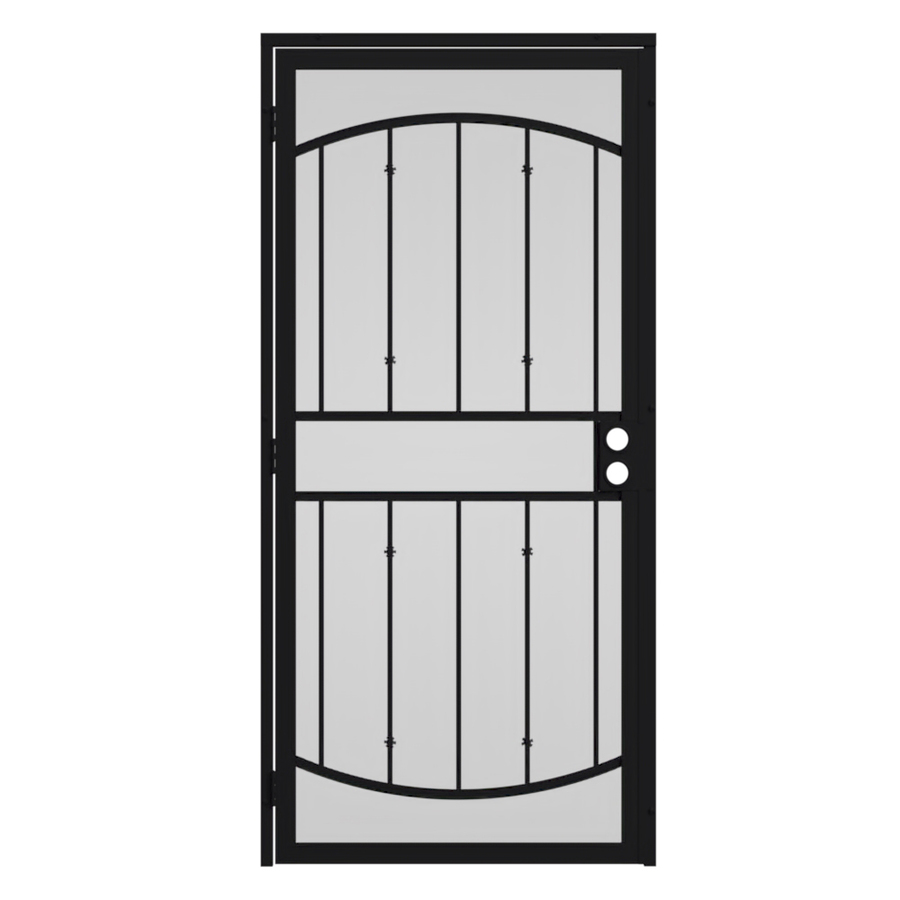 Security doors gibraltar steel security door for Front door security bar