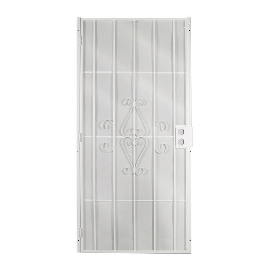 Security doors white steel security door - White security screen door ...