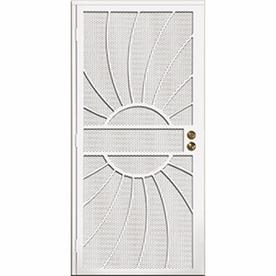 Shop Gatehouse Sunburst White Steel Security Door Common