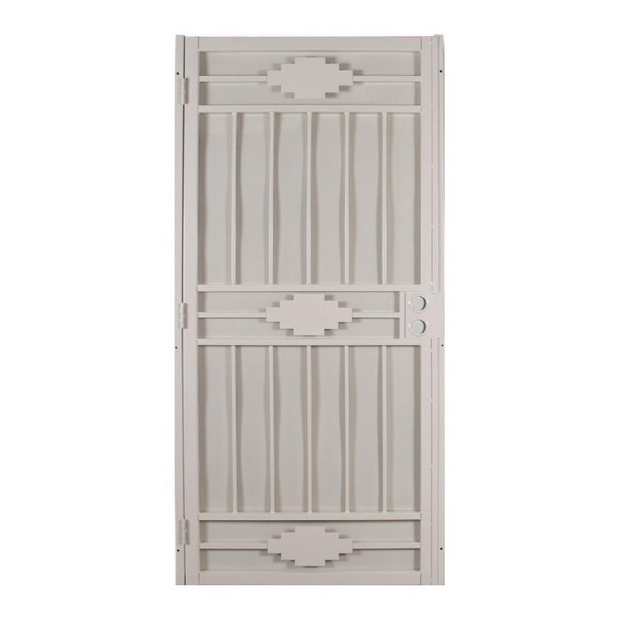 Shop gatehouse cherokee almond steel security door common for Lowes steel doors