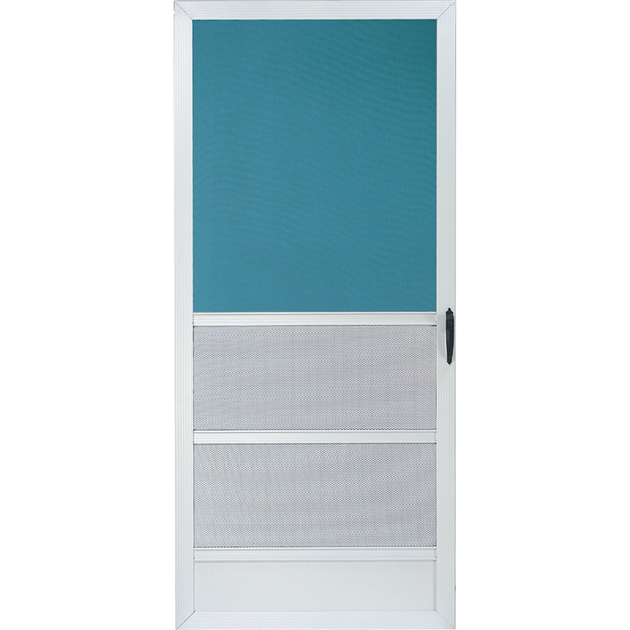 Shop comfort bilt oceanview white aluminum screen door for Aluminum screen doors