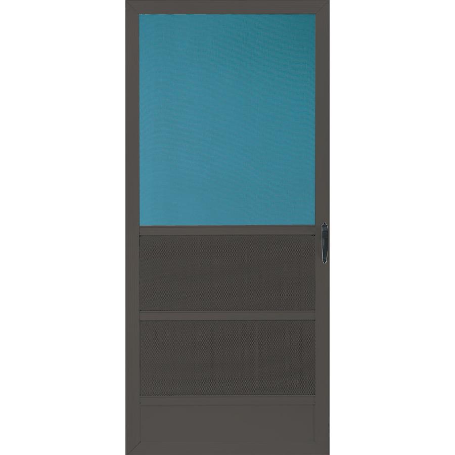 Aluminum screen brown aluminum screen doors for Metal screen doors