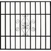 Gatehouse 48-in Black Scroll Window Security Bar