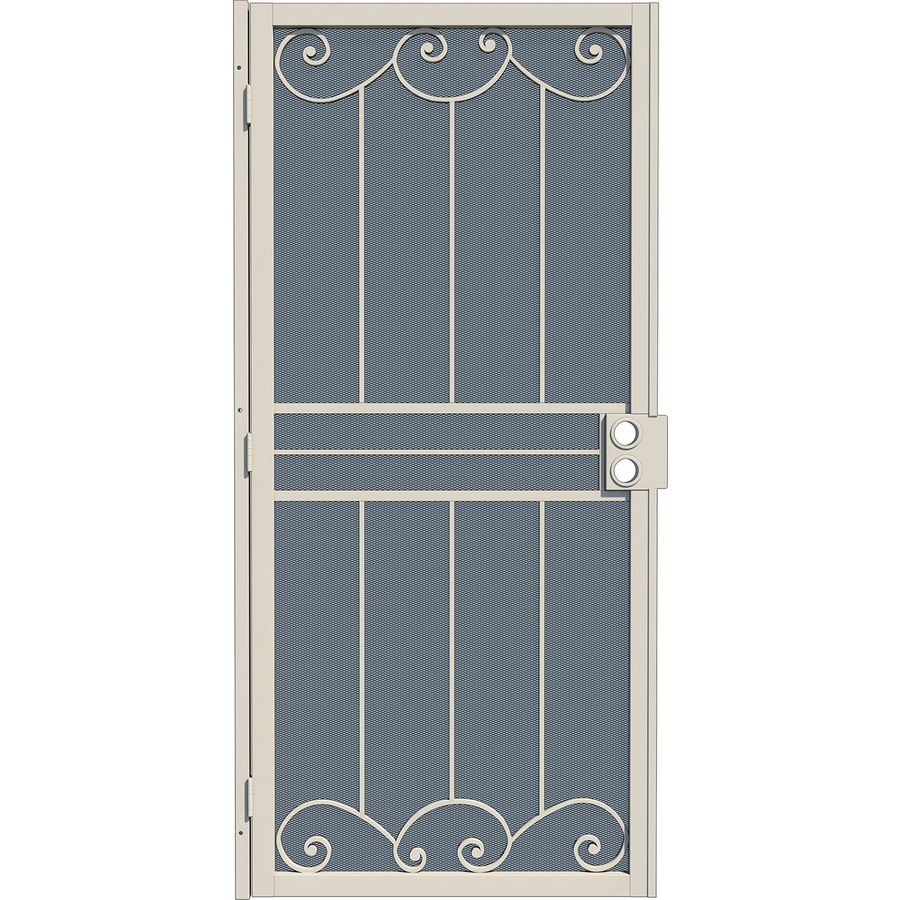 Shop gatehouse sonoma almond steel security door common for Lowes steel doors