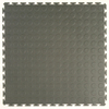 Style Selections 20-1/2-in W x 20-1/2-in L Gray Raised Coin Garage Vinyl Tile