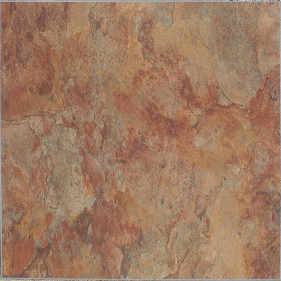 Piece Copper Slate Peel And Stick Residential Vinyl Tile At