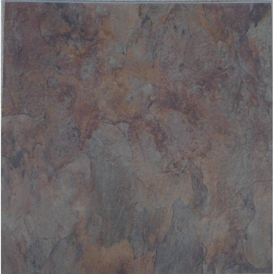 Shop novalis 18 in x 18 in verde slate slate finish peel for 18 x 18 vinyl floor tile