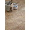 STAINMASTER 18-in x 18-in Groutable Crushed Shell/ Light Brown Peel-and-Stick Stone Luxury Vinyl Tile