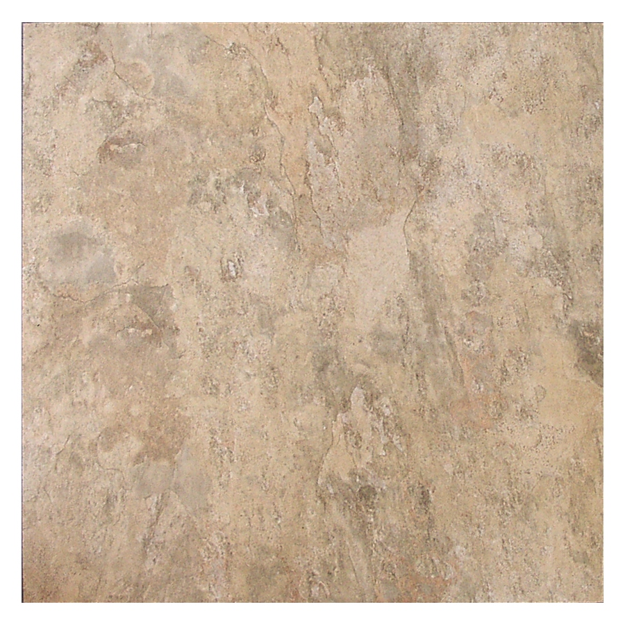 shop style selections almond peel and stick residential vinyl tile at