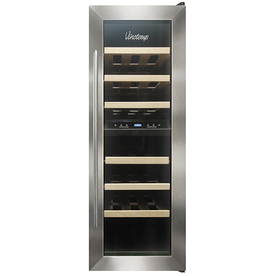 Vinotemp 21-Bottle Black less Dual Zone Wine Chiller