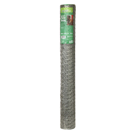 36-in x 50-ft Silver Steel Poultry Netting