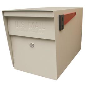 Mail Boss 11.25-in x 13.75-in Metal White Lockable Post Mount Mailbox