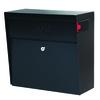 Mail Boss 15.4-in x 14.75-in Metal Black Lockable Wall Mount Mailbox