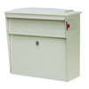 Mail Boss 15.75-in x 16-in Metal White Lockable Wall Mount Mailbox