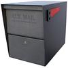 Mail Boss 12-in x 16.5-in Metal Granite Lockable Post Mount Mailbox