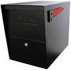 Mail Boss 12-in x 16.5-in Metal Black Lockable Post Mount Mailbox