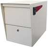 Mail Boss 12-in x 16.5-in Metal White Lockable Post Mount Mailbox