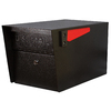 Mail Manager 10.75-in x 11.25-in Metal Black Lockable Post Mount Mailbox