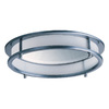 Juno Juno Downlights Satin Chrome Open Recessed Light Trim (Fits Housing Diameter: 6-in)