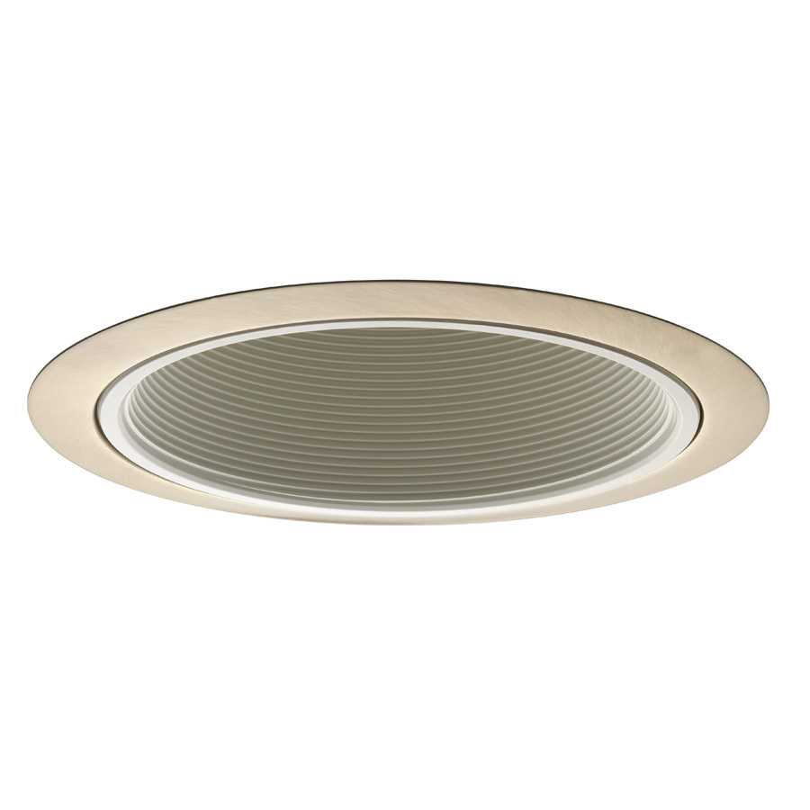 shop juno brushed nickel baffle recessed light trim fits. Black Bedroom Furniture Sets. Home Design Ideas