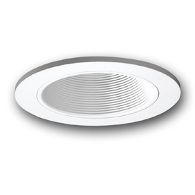 All-Pro 6-in White Baffle Recessed Lighting Trim