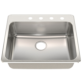 Franke USA 18-Gauge Single-Basin Drop-In Stainless Steel Kitchen Sink ...