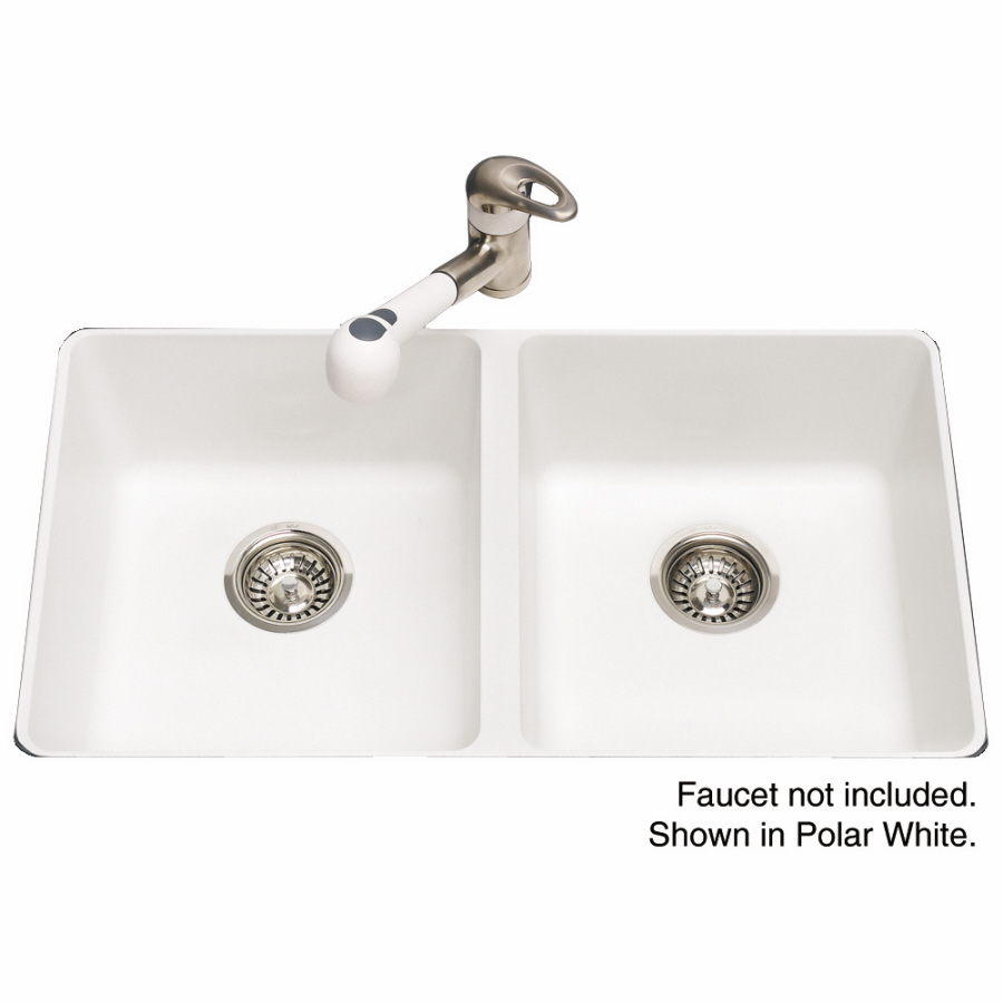 Kindred Kitchen Sinks : ... Polar White Double-Basin Granite Undermount Kitchen Sink at Lowes.com