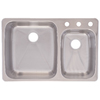 Kindred 18-Gauge Double-Basin Dual Mount Stainless Steel Kitchen Sink