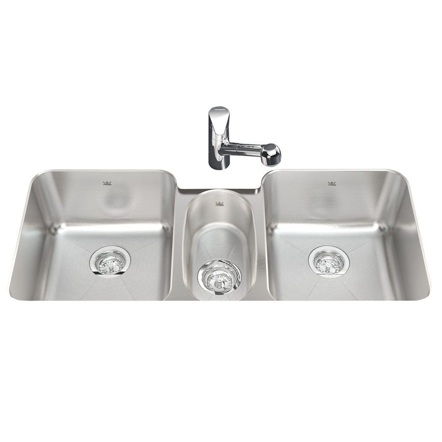... Triple-Basin Undermount Stainless Steel Kitchen Sink at Lowes.com