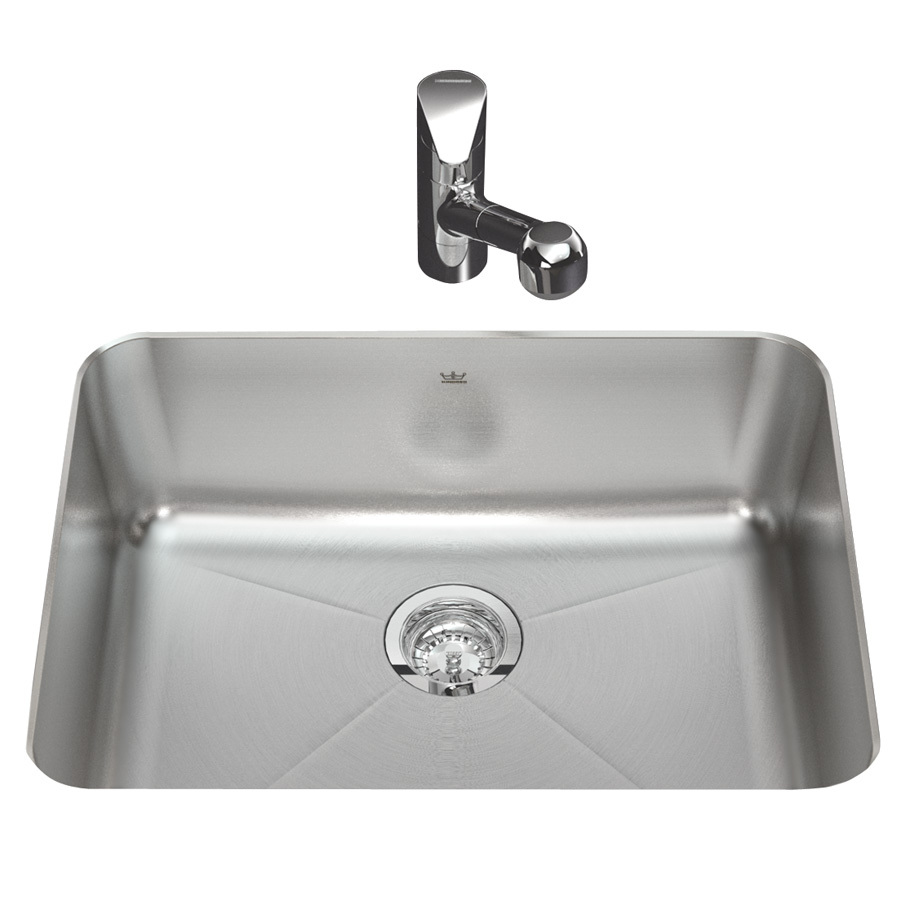 ... Silk Deck and Rim Single-Basin Undermount Kitchen Sink at Lowes.com