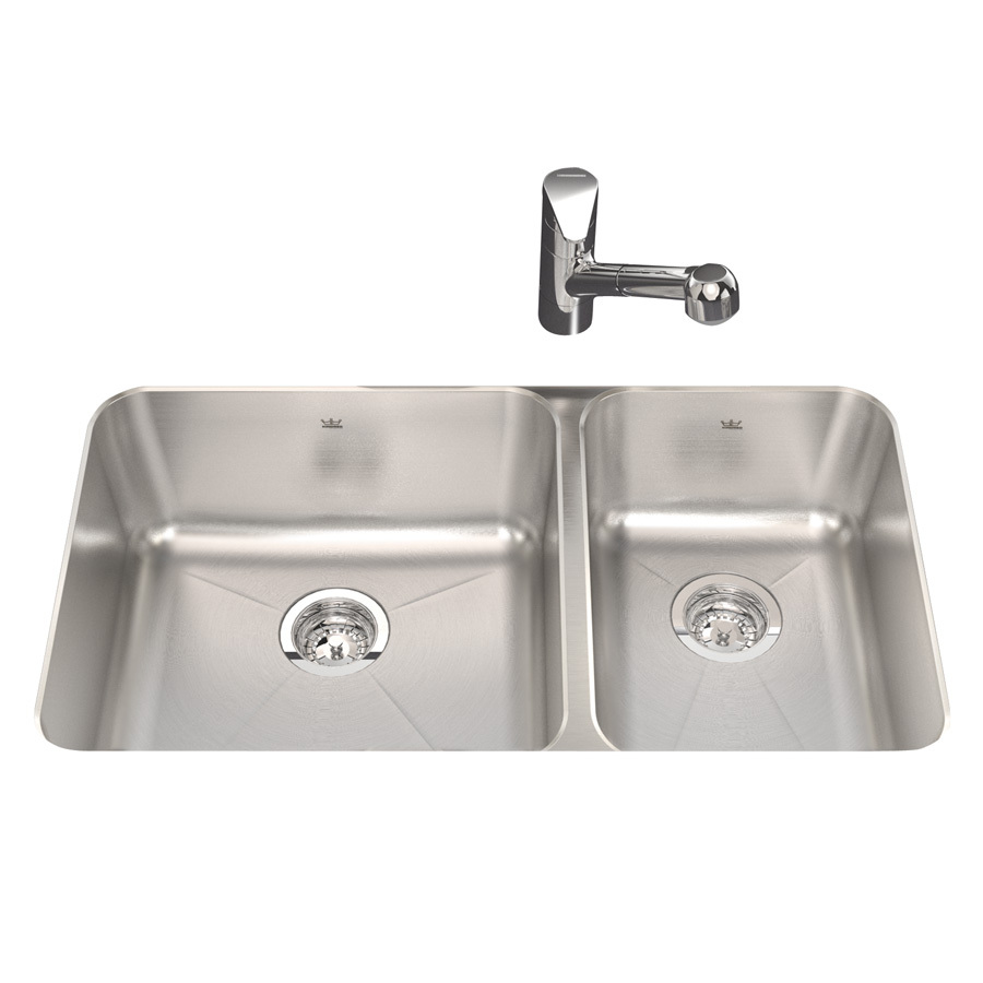 Shop Kindred Silk Double-Basin Undermount Kitchen Sink at Lowes.com