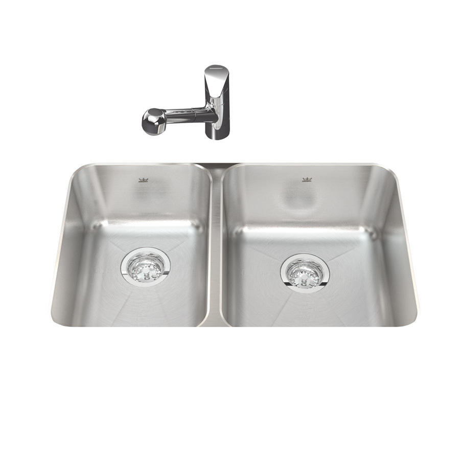 Shop kindred x silk bowls and rim double basin stainless steel undermount - Kindred undermount kitchen sinks ...