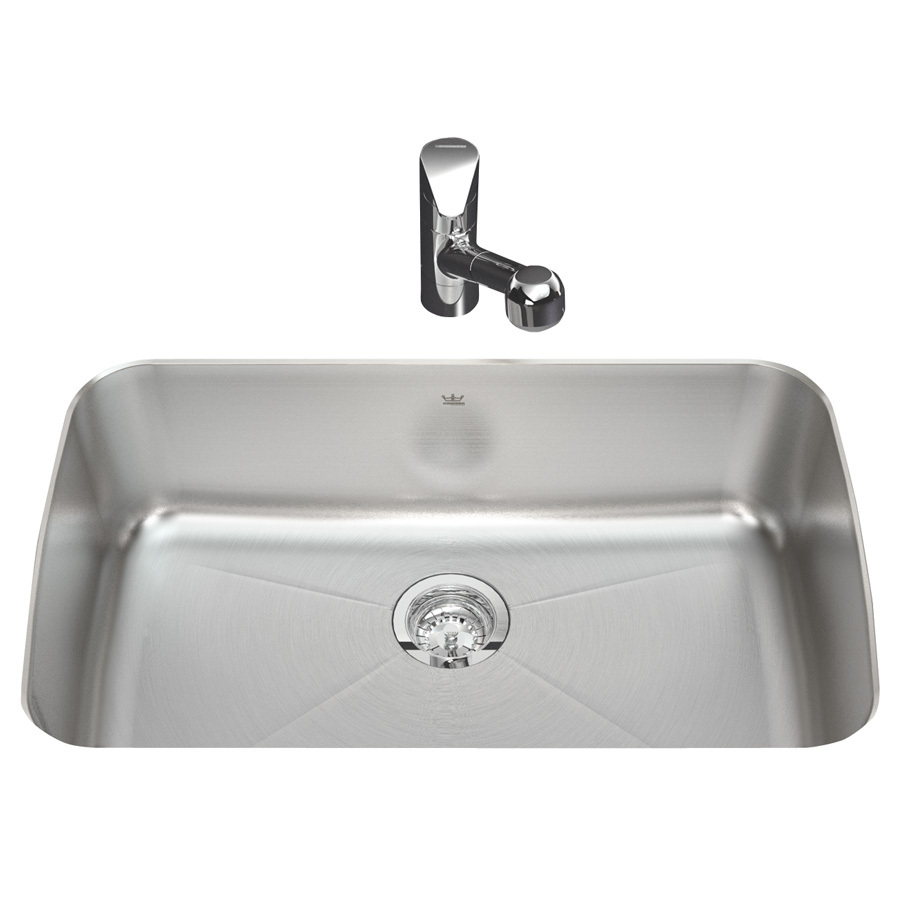 Shop Kindred Silk Bowl and Rim Single-Basin Undermount Kitchen Sink at ...