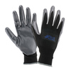 Blue Hawk Men's Polyester Nitrile-Coated Work Gloves