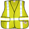 West Chester Adjustable Green Polyester High Visibility Reflective Safety Vest