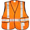 West Chester Adjustable Orange Polyester High Visibility Reflective Safety Vest