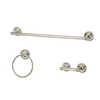 Kingston Brass 3-Piece Laurel Satin Nickel Decorative Bathroom Hardware Set