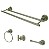 Kingston Brass 4-Piece Concord Satin Nickel Decorative Bathroom Hardware Set