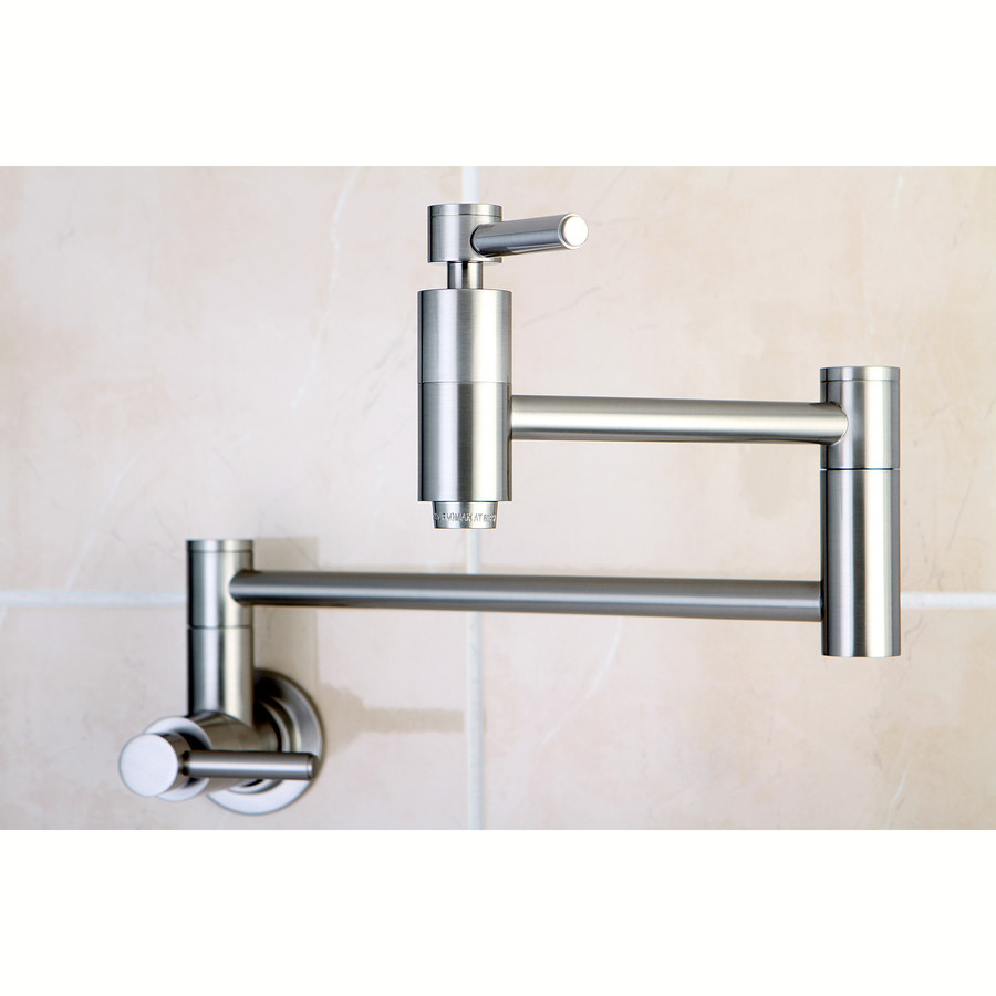 Shop kingston brass concord satin nickel pot filler Pot filler faucet
