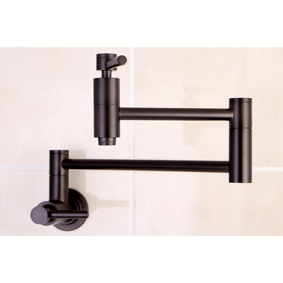 Brass concord oil rubbed bronze pot filler kitchen faucet at lowes com
