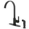 Kingston Brass Continental Oil-Rubbed Bronze 1-Handle High-Arc Kitchen Faucet with Side Spray