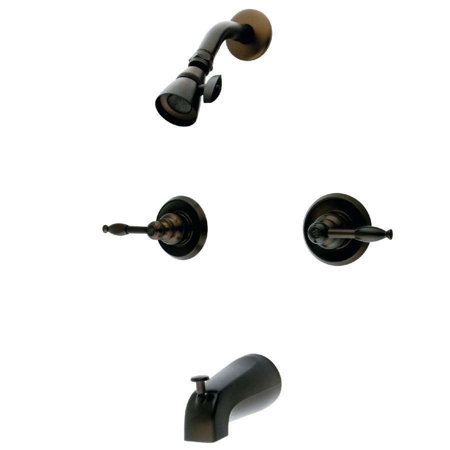 Shop Kingston Brass Magellan Oil Rubbed Bronze 2 Handle Bathtub And Shower Fa