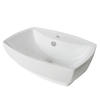 Kingston Brass Marquis White Vessel Bathroom Sink