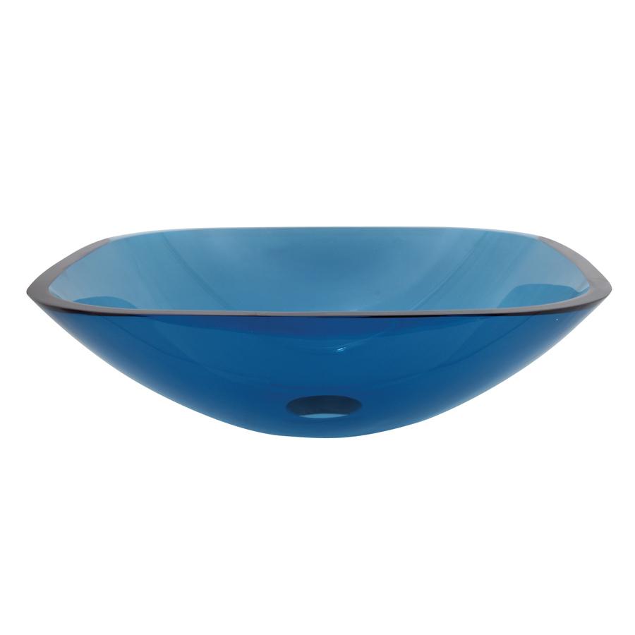 ... Templeton 5-in D Topaz Blue Glass Rectangular Vessel Sink at Lowes.com