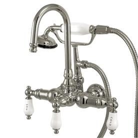 Kingston Brass Vintage Chrome 3-Handle Fixed Clawfoot Tub Faucet