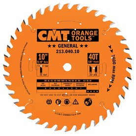CMT 10-in 40-Tooth Continuous Carbide Circular Saw Blade